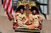 NYC: Art Deco Bas Relief at Rockefeller Center — Stock Photo
