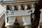 NYC: Carved Romanesque Capitol at Cloisters Museum — Stock Photo