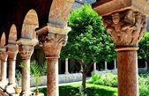 NYC: Cuxa Cloister at the Cloisters Museum — Stock Photo