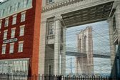 NYC:  Wall Mural at South Street Seaport — Stock Photo