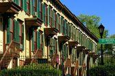 NYC: Sylvan Terrasse Häuser — Stockfoto