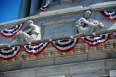 NYC: Bunting on Grant's Tomb — Stock Photo