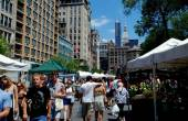 NYC: Union Square Farmer's Market — Stock Photo