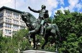 NYC: Equestrian Statue of George Washington — Stock Photo