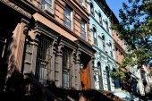NYC:  UWS Brownstone Buildings — Stock Photo