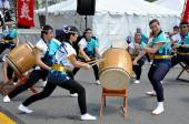NYC: Soh Daiko Drummers at Festival — Stock Photo
