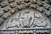 NYC: Riverside Church Doorway Tympanum — Stock Photo