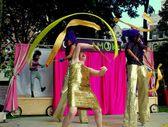 NYC: Circus Amok Performers — Stock Photo