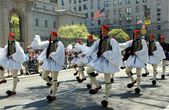 NYC: Marchers at Greek Independence Day Parade — Stock Photo