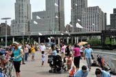 NYC:  People Flying Kites in Riverside Park — Foto Stock
