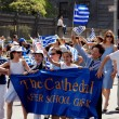 NYC: Marchers at Greek Independence Day Parade — Stock Photo #58067013
