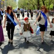 NYC: Marchers at Greek Independence Day Parade — Stock Photo #58067031