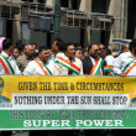Постер, плакат: NYC: India Super Power Group at India Day Parade