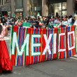 NYC: Marchers in Mexican Independence Day Parade — Stock Photo #58160525