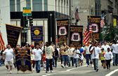 NYC: Marchers at Labour Day Parade — Stock Photo
