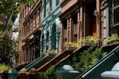 NYC:  Row of West Side Brownstones — Stock Photo