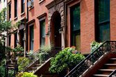 Brooklyn, NY:  Cobble Hill Town Houses — Stock Photo