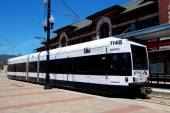 Newark, Nj: Nj transito ferroviario leggero Trolley — Foto Stock