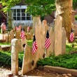 Philadelphia, PA: Graves at Pine Street Presbyterian Church Cemetery — Stock Photo #59990215