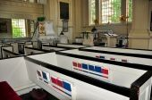Philadelphia, PA: Christ Church Pews — Stock Photo