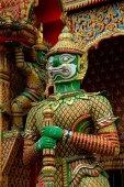 Nakhon Pathom, Thailand: Guardian Demon at Wat Dai Lom — Stock Photo