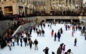 New York City: Rockefeller Center Ice Skating Rink — Stock fotografie