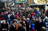 New York City: Crowds of People on Fifth Avenue — Stok fotoğraf