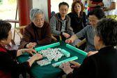 Chengdu, China: Women Playing Mahjong — Stock Photo
