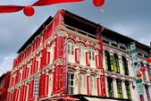 Singapore:  Temple Street Houses in Chinatown — Stock Photo