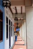 Singapore: Covered Shop House Arcades — Stock Photo