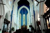 Singapore: Interior of St. Andrew's Cathedral — Foto de Stock