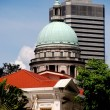 Singapore: Arts House and Supreme Court Dome — Stock Photo #65303869