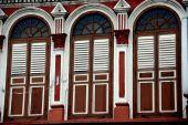 Singapura: Little India loja casa Windows — Fotografia Stock