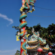 Hua Hin, Thailand: Ceramic Dragon at Chinese Temple — Stock Photo #66524521