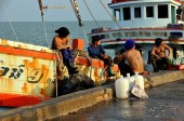 Hua Hin, Tailandia: Pescatori tailandesi — Foto Stock