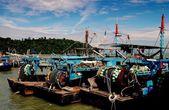 Penang, Malaysia: Teluk Bahang Village Fishing Boats — Stock Photo