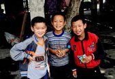 Wan Jia, China:  Smiling Chinese Children — Stock Photo
