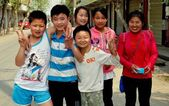 Wan Jia, China: Smiling Chinese Schoolboys — Stock Photo