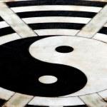 Yang Pin, China: Ying Yang Symbol at Taoist Temple — Stock Photo #68848199