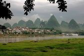 Yangshuo, China: Karst Rock Formations — Stock Photo