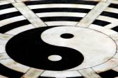Yang Pin, China: Ying Yang Symbol at Taoist Temple — Stock Photo