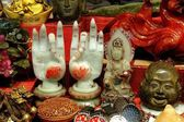 Hong Kong, China: Objets d'Art at Jade Market — Stock Photo