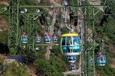 Hong Kong, China: Cable Cars at Ocean Park — Stock Photo