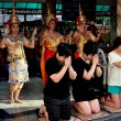 Bangkok, Thailand:  People Praying at Erawan Shrine — Stock Photo #71115495