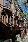 New York City: Hamilton Heights Brownstones — Stock Photo