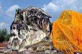 Ayutthaya, Thailand: Wat Lokaya Sutha Reclining Buddha — Stock Photo