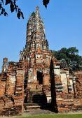 Ayutthaya, Thailand: Wat Chai Wattanaram Ruins — Stock Photo