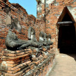 Ayutthaya, Thailand: Buddhas at WatChai Wattanaram — Stock Photo #72271737