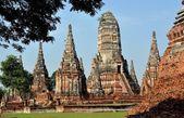Ayutthaya, Thailand: Wat Chai Watthanaram Ruins — Stock Photo