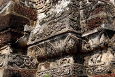 Ayutthaya, Thailand:  Bas Relief Temple Decorations — Stock Photo